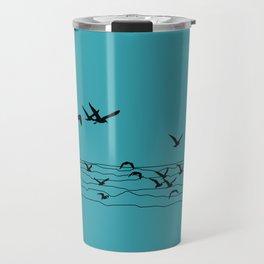 Seagull Beach by Seasons K Designs Travel Mug