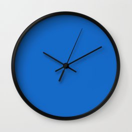 Solid Diamond Mid Blue Simple Classic Color All Over Print Wall Clock