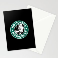 No coffee No workee Stationery Cards