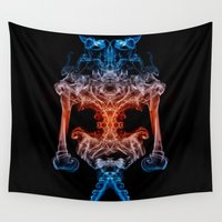boxer Wall Tapestries featuring The Boxer by Steve Purnell