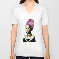hat V-neck T-shirts featuring Space Hat by EclipseLio