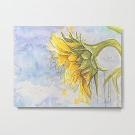 Helianthus annuus: Sunflower Abstraction Metal Print