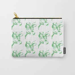 Follow the Herd Pattern - Green #637 Carry-All Pouch