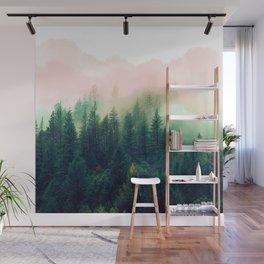 Watercolor mountain landscape Wall Mural