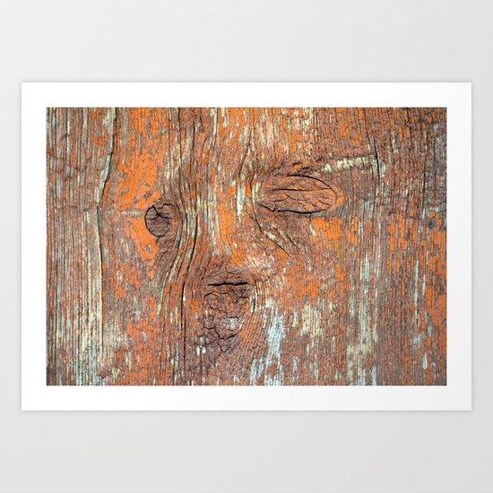 Red Reclaimed Barn Wood Art Print