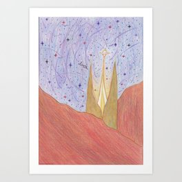 In a far away land. Art Print