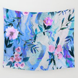 Floral Marble Swirl Wall Tapestry