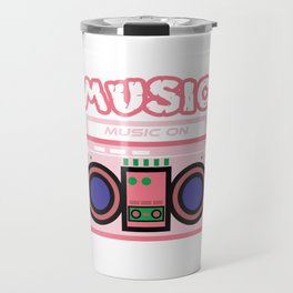 "Cute and  pink ""Radio Music"" tee design. Makes a nice gift to your friends and family this holiday!  Travel Mug"