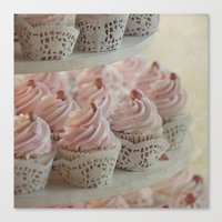 cupcakes Canvas Prints featuring Cupcakes by Mary Kilbreath