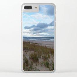 Cloudy Lake Michigan Clear iPhone Case