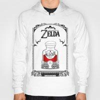 the legend of zelda Hoodies featuring Zelda legend - Red potion  by Art & Be