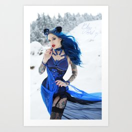 Gothic Kitty Art Print