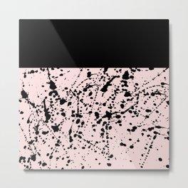 Splat Black on Blush Boarder Metal Print