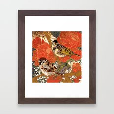 Morning Peonies Framed Art Print
