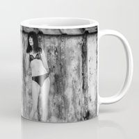 bikini Mugs featuring Black Bikini. by davehare