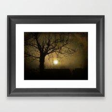 Halloween Sunset Framed Art Print