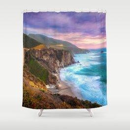 Big Sur Bixby Bridge Adventure Shower Curtain
