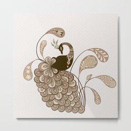 Art Peacock V5 Metal Print