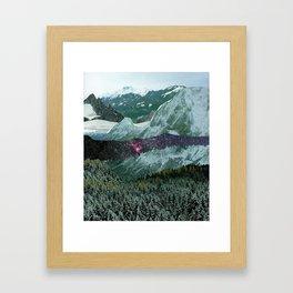 Experiment am Berg 15 Framed Art Print