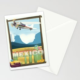Mexico Desert vintage style travel Stationery Cards
