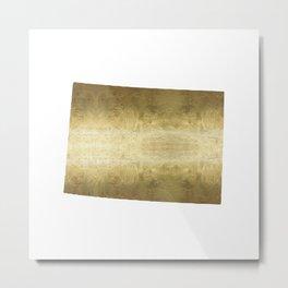 colorado gold foil state map Metal Print