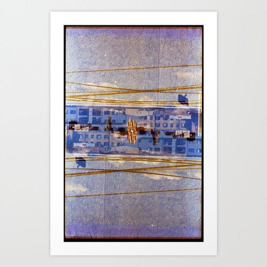 attention span (35mm multi exposure) Art Print