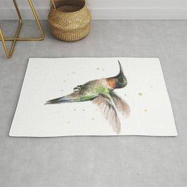 Hummingbird Watercolor Rug