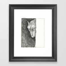 Le Loup original Framed Art Print