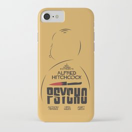 Psycho, Alfred Hitchcock, minimal movie poster, classic horror film, american cinema, thriller iPhone Case