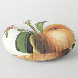 A peach plant - vintage illustration Floor Pillow
