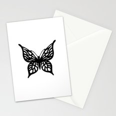 Butterfly Black on White Stationery Cards