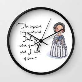 Queen Victoria Inspirational Quote Wall Clock