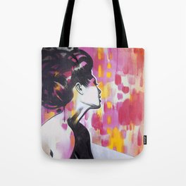 Neon Geisha Tote Bag