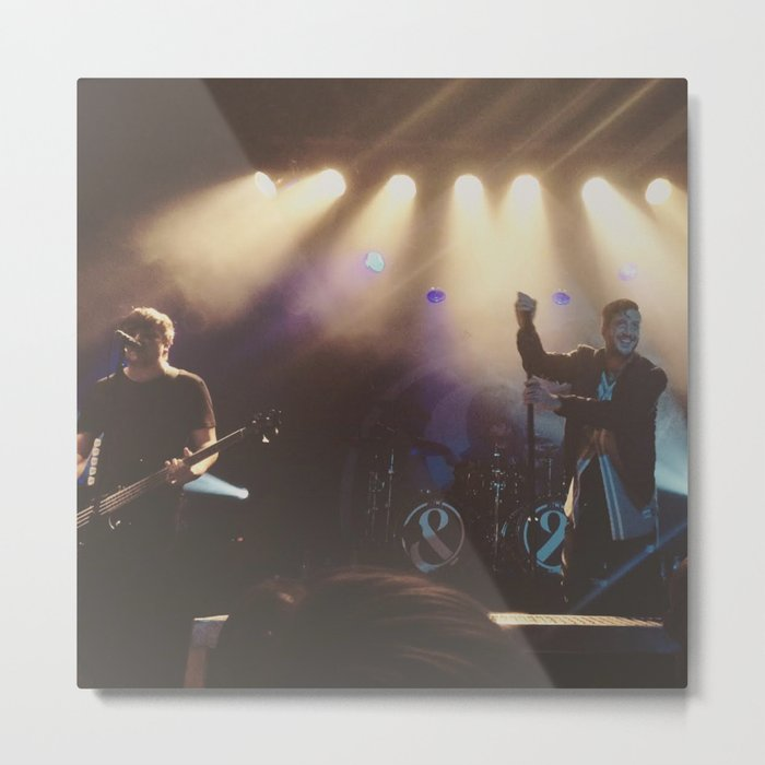 Austin Carlile and Aaron Pauley of Of Mice & Men- #Bands Metal Print