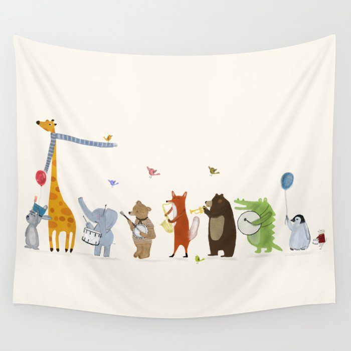 little parade Wall Tapestry