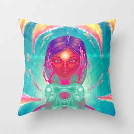 Superconductor Throw Pillow