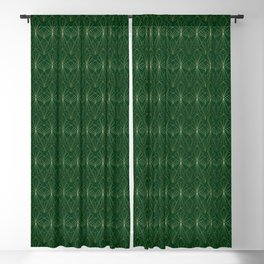 Art Deco in Gold & Green Blackout Curtain