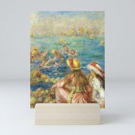 Pierre-Auguste Renoir Having Fun at the Beach Impressionist Scene Mini Art Print
