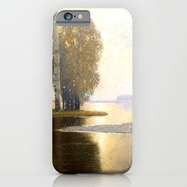 Landscape with Birches by Vilhelms Purvītis - Latvian Lettish Fine Art - Purvitis iPhone Case