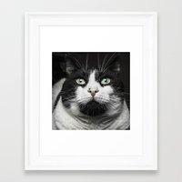 kitty Framed Art Prints featuring Kitty Cat by Joao Bizarro