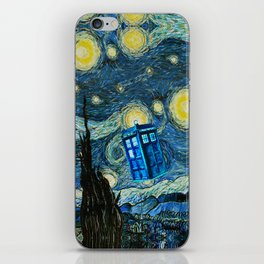 Flying Tardis doctor who starry night iPhone 4 4s 5 5c 6, pillow case, mugs and tshirt iPhone Skin