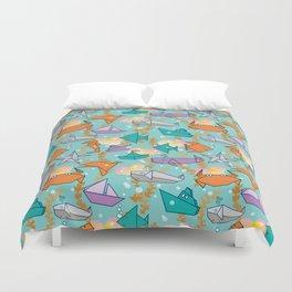 Origami Ocean Duvet Cover