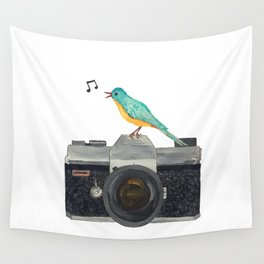 Watch the birdie Wall Tapestry