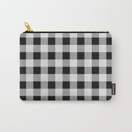 TARTAN GINGHAM CHECKERED GREY / BLACK Carry-All Pouch