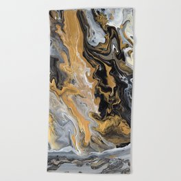 Gold Vein Marble Beach Towel