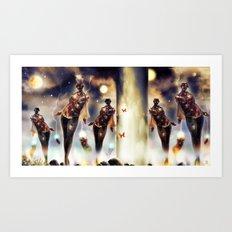 The Mechanids unmasked! [Digital Fantasy Figure Illustration] Art Print