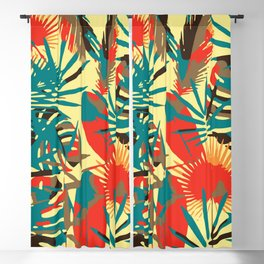 Abstract Exotique Leaves Blackout Curtain