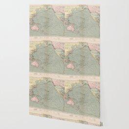 Vintage Pacific Ocean Navigational Map (1905) Wallpaper