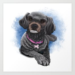 Boneca the Poodle Art Print