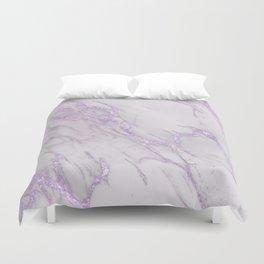 Marble Love Purple Metallic Duvet Cover